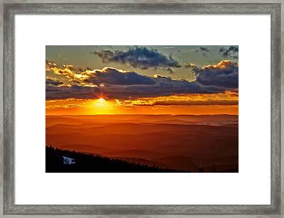 Spruce Knob Sunset Framed Print