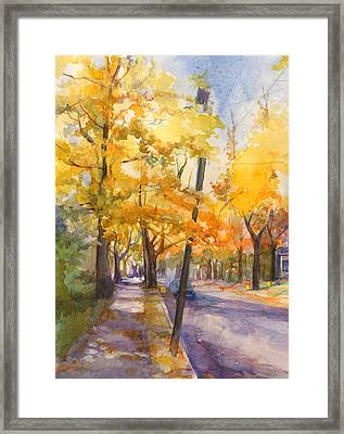 Spruce Street Maples #2 Framed Print by Nancy Watson