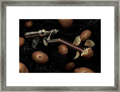 Spuds The Final Frontier Framed Print by Randy Turnbow