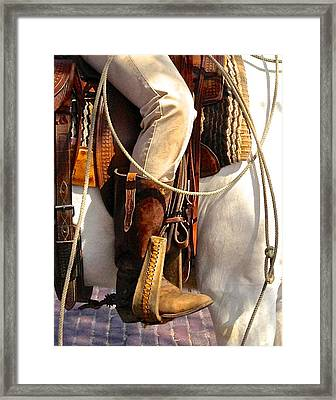 Spur Of The Moment Framed Print by Dee Dee  Whittle