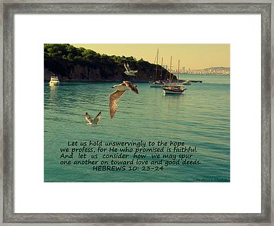 Spur One Another On Framed Print