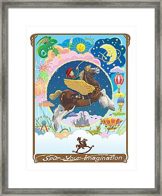 Framed Print featuring the mixed media Spur Your Imagination by J L Meadows
