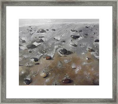Framed Print featuring the painting Spurn Point Beach by Cherise Foster