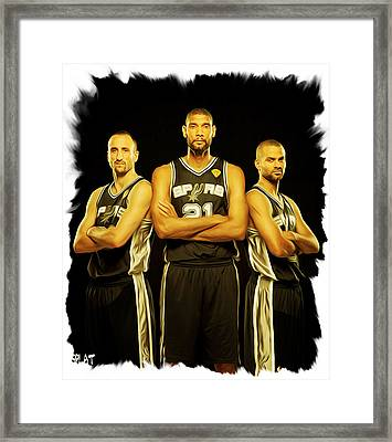 Spurs Framed Print by Paint Splat