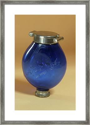 Sputum Flask Framed Print by Science Photo Library