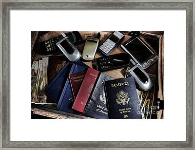 Spy Kit Framed Print by Olivier Le Queinec