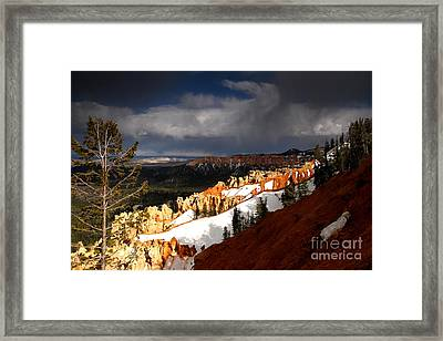 Squall Over The South Rim Framed Print by Butch Lombardi