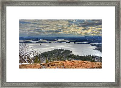Squam Lake In February Framed Print