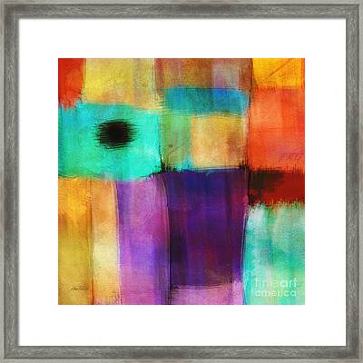 Square Abstract Study Three  Framed Print by Ann Powell