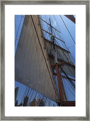 Square And Triangle Framed Print by Scott Campbell