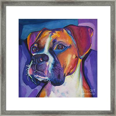 Square Boxer Portrait Framed Print