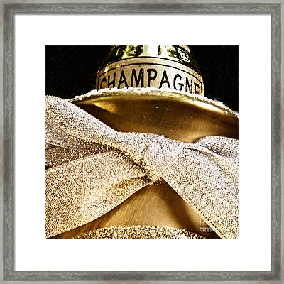 Square Gold Champagne Ornament Framed Print by Birgit Tyrrell