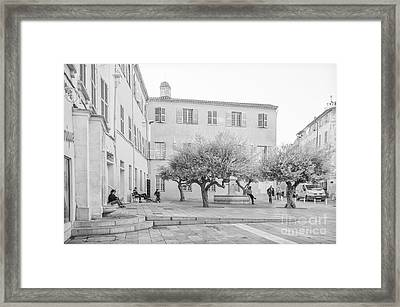 Square Life In Provence Framed Print