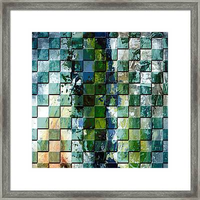 Square Mania - Abstract 01 Framed Print by Emerico Imre Toth