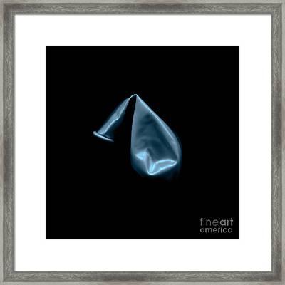 Square Metallic Balloon Framed Print by Julian Cook