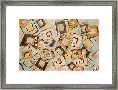 Square Moments Framed Print