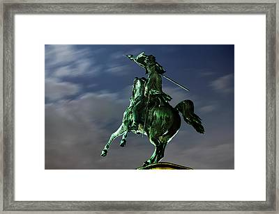 Square Of Heroes - Vienna Framed Print by Marc Huebner