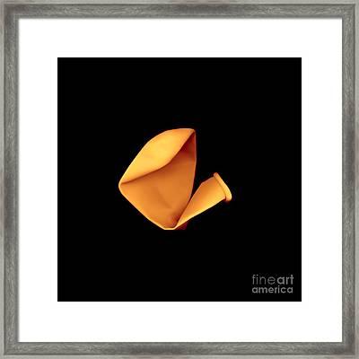 Square Orange Balloon Framed Print by Julian Cook