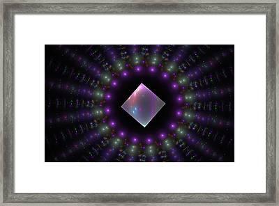 Square Peg Round Hole Framed Print by GJ Blackman