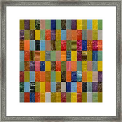 Square Rectangles Framed Print by Michelle Calkins