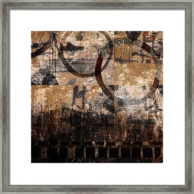 Square Rings Framed Print by Carol Leigh