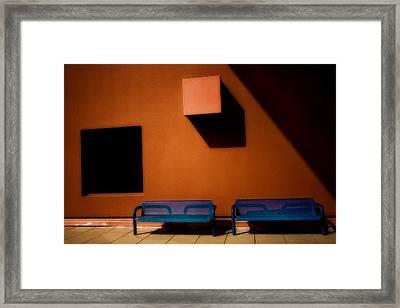 Square Shadows Framed Print