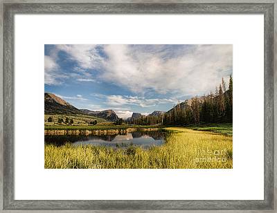 Square To At Green River Framed Print
