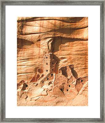 Square Tower House Mesa Verde Framed Print by Carl Bandy