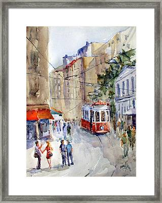 Square Tunel - Beyoglu Istanbul Framed Print