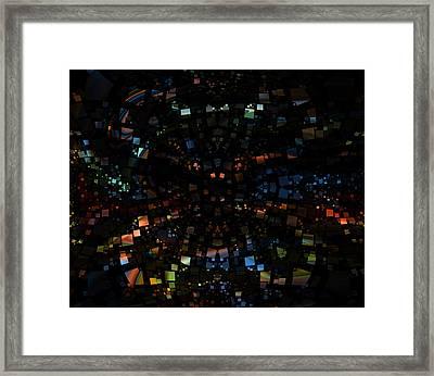Square Universe 3 Framed Print by Steve K