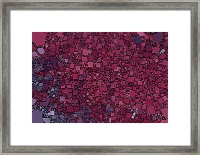 Square Universe Framed Print by Steve K