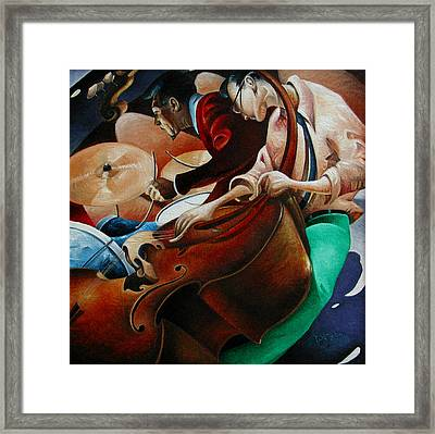 Squared Jazz Framed Print by T S Carson