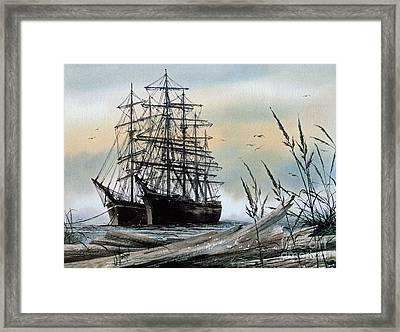 Squarerigger Cove Framed Print