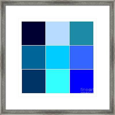 Squares - Blue Framed Print by Celestial Images