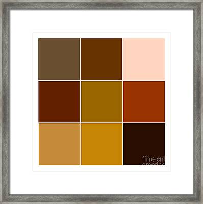 Squares - Brown Framed Print