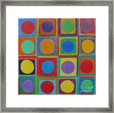 Framed Print featuring the drawing Squares And Circles by Patricia Januszkiewicz