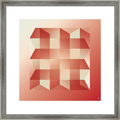 Squares And Columns Framed Print by Gary Grayson