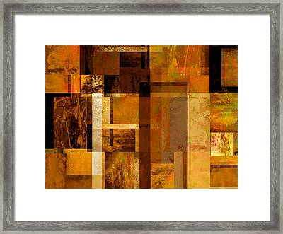 Squares And Rectangles Framed Print by Ann Powell