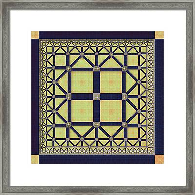 Squares And Triangles Framed Print by Mark Eggleston