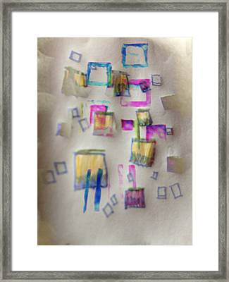 Squares At School Framed Print by Robert M Cooper