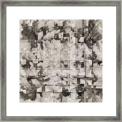 Squares Squared Number 2 Framed Print
