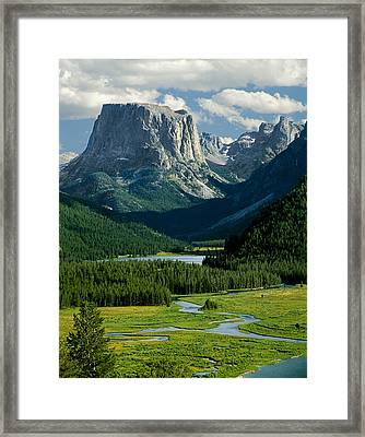 Squaretop Mountain 3 Framed Print