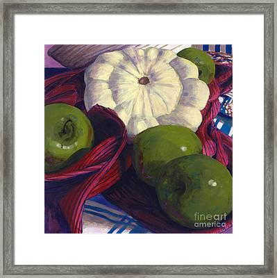 Squash And Apples Framed Print