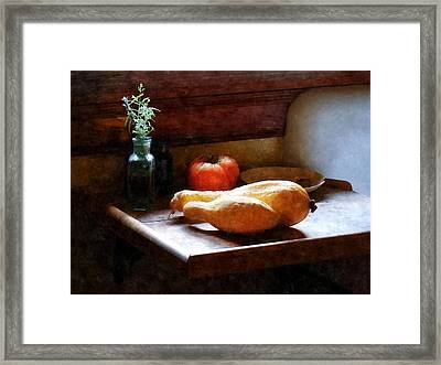 Squash And Tomato Framed Print