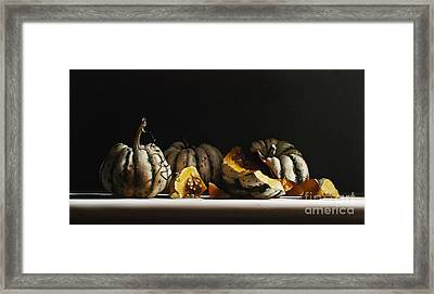 Squash Sweet Dumpling Framed Print by Larry Preston