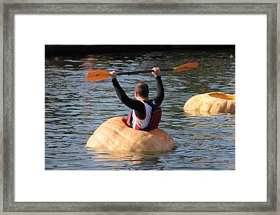 Framed Print featuring the photograph The Great Pumpkin Race by Aaron Berg