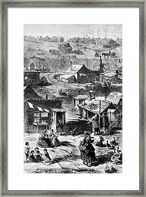 Squatters In New York City Framed Print by Library Of Congress