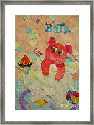 Framed Print featuring the mixed media Squeaky Clean by Diane Miller