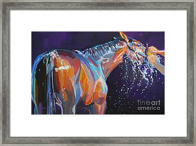 Squeaky Clean Framed Print by Kimberly Santini