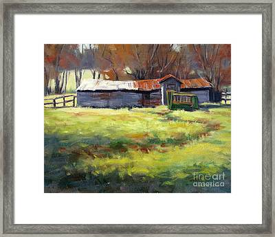 Squeeze Chute Framed Print by Vickie Fears